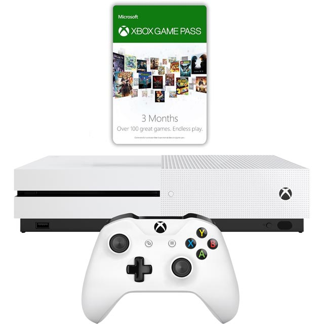 Xbox One S 1TB with 3 Month Game Pass & 3 Month Gold - White - 234-00353 - 1