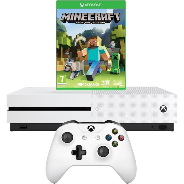 Xbox One S 1TB with Minecraft (Digital Download) - White - 234-00512 - 1