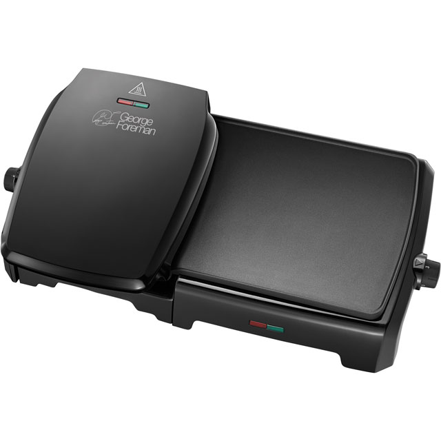 George Foreman Grill & Griddle 23450 Health Grill in Black