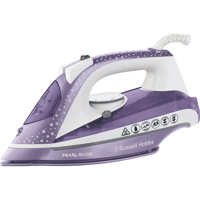 Russell Hobbs 23974 Pearl Glide Steam Iron in Dusk with 150 g Steam Boost and Vertical Steam Feature, 315 ml Tank, 2600 Watt