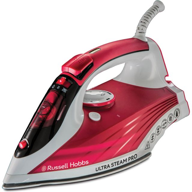 Russell Hobbs Ultra Steam Pro 23990 2600 Watt Iron -Red