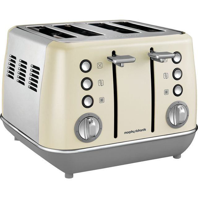 Morphy Richards Evoke 240107 4 Slice Toaster - Cream