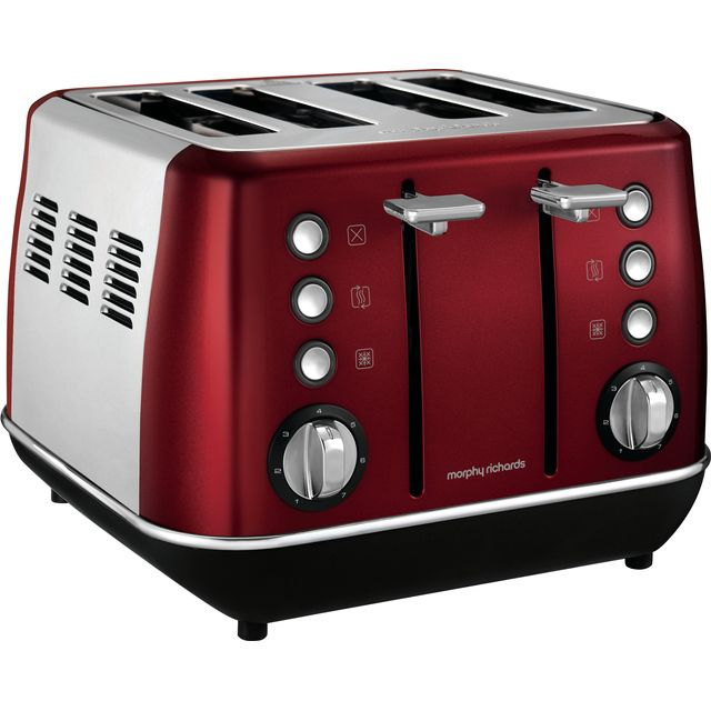 Morphy Richards Evoke 240108 4 Slice Toaster - Red - 240108_RD - 1