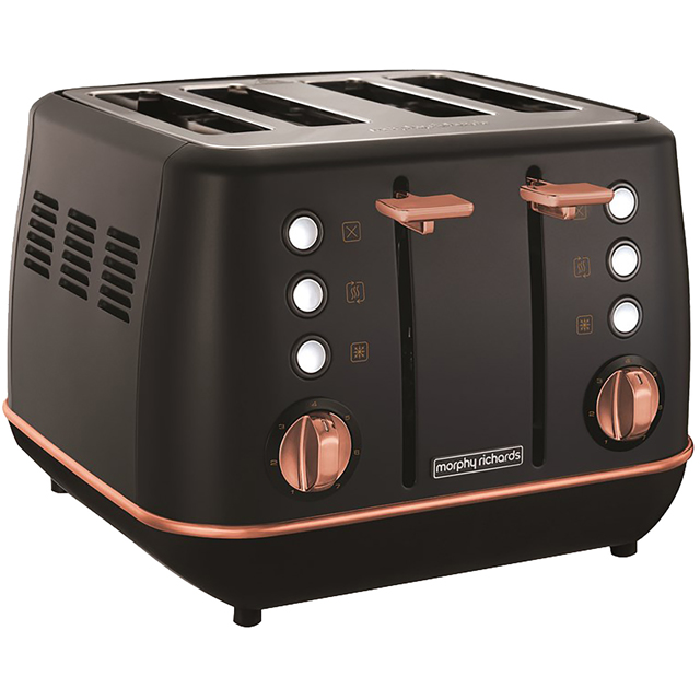 Morphy Richards Evoke Special Edition 240114 4 Slice Toaster - Black / Rose Gold