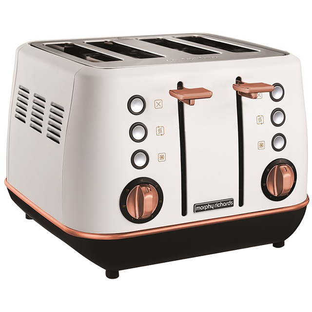 Morphy Richards Evoke Special Edition 240115 4 Slice Toaster - White / Rose Gold