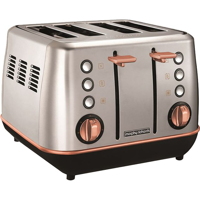 Morphy Richards Evoke Special Edition 240116 4 Slice Toaster - Brushed / Rose Gold