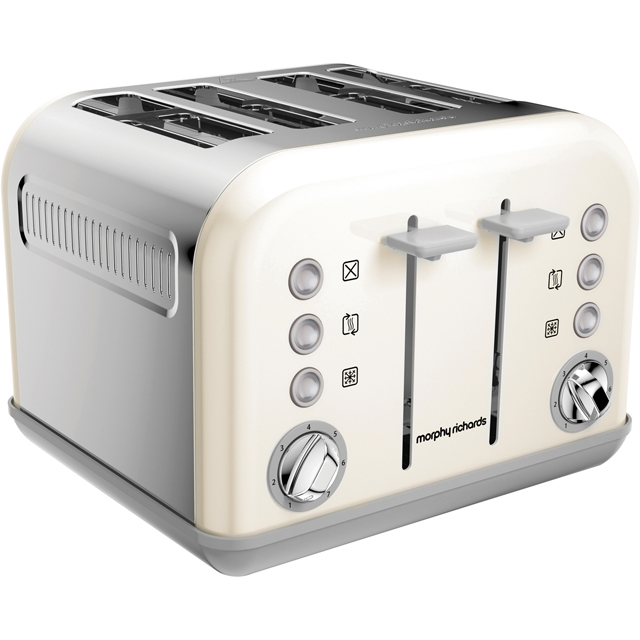 Morphy Richards Accents 242032 4 Slice Toaster - Off White
