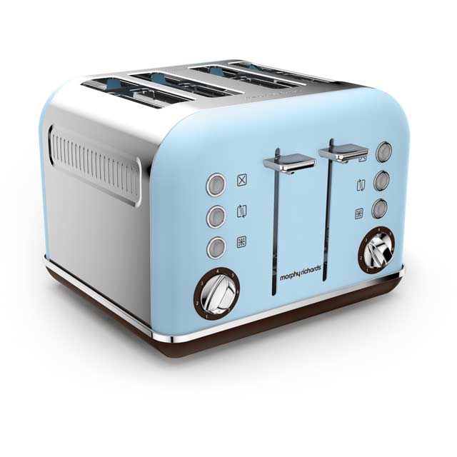 Morphy Richards Accents Special Edition 242100 4 Slice Toaster - Azure