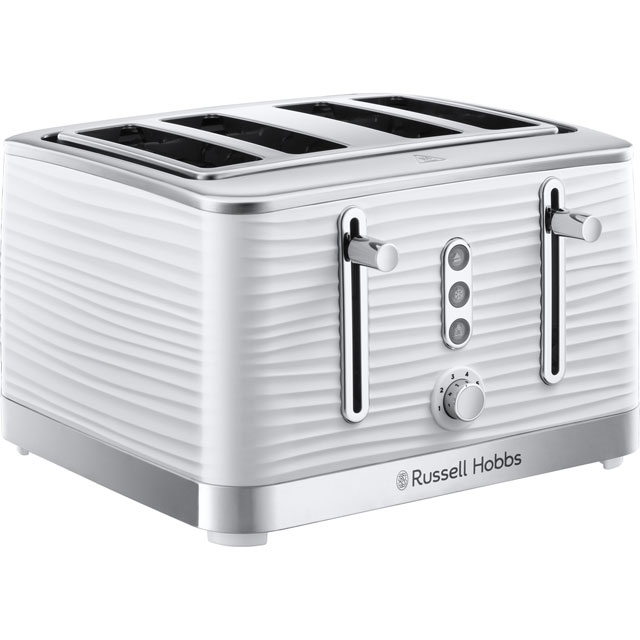 Russell Hobbs Inspire 24380 4 Slice Toaster - White - 24380_WH - 1