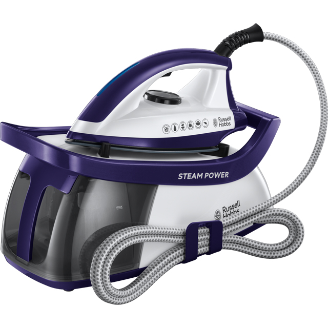 Russell Hobbs Pressurised Steam Generator Iron - Purple / White