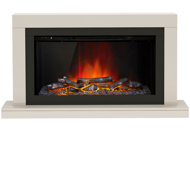 BeModern Elyce 24791_CSH Log Effect Wall Mounted Fire - Cashmere - 24791_CSH_MCSH - 1