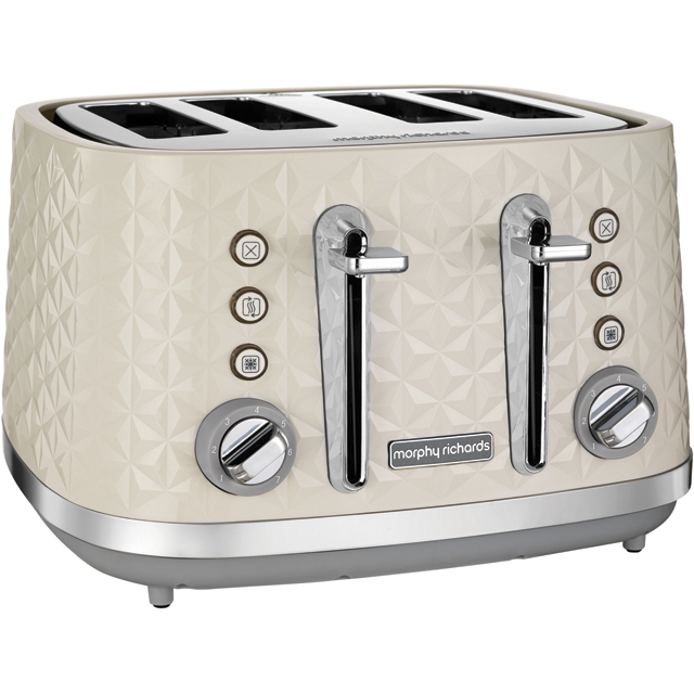 Morphy Richards Vector 248132 4 Slice Toaster - Cream - 248132_CR - 1