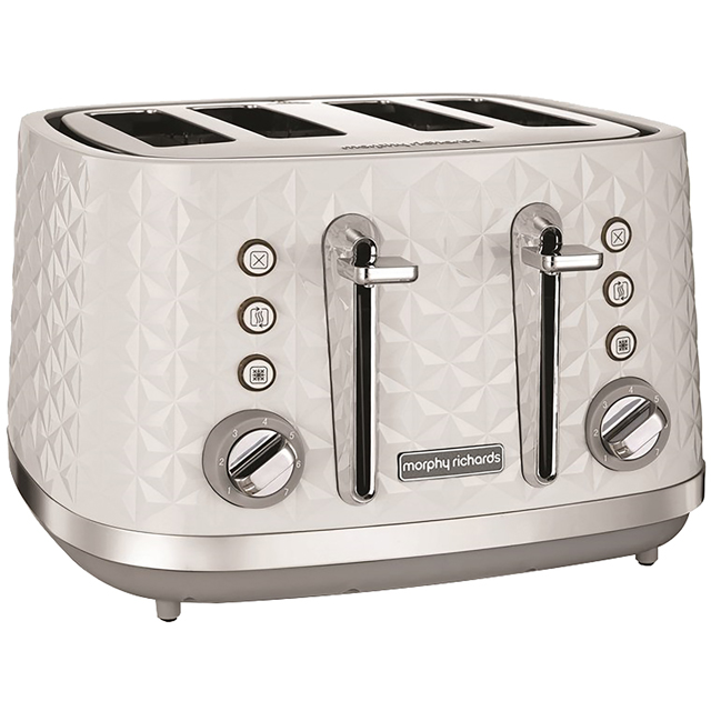Morphy Richards Vector 248134 4 Slice Toaster - White