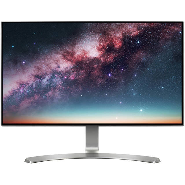 "LG Full HD 24"" 60Hz Monitor - Silver / White"