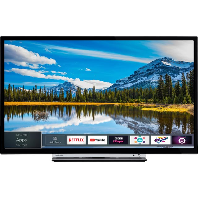 "Toshiba 24W3863DB 24"" Smart TV - Silver / Black - 24W3863DB - 1"