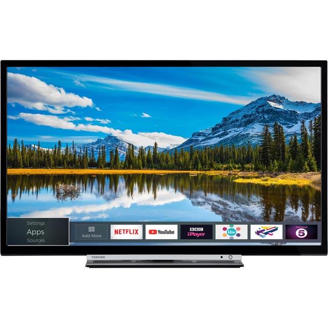 Toshiba 24W3863DB Led Tv in Silver / Black