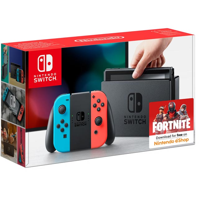 Nintendo Switch 32GB - Neon Red/Blue - 2500146 - 1