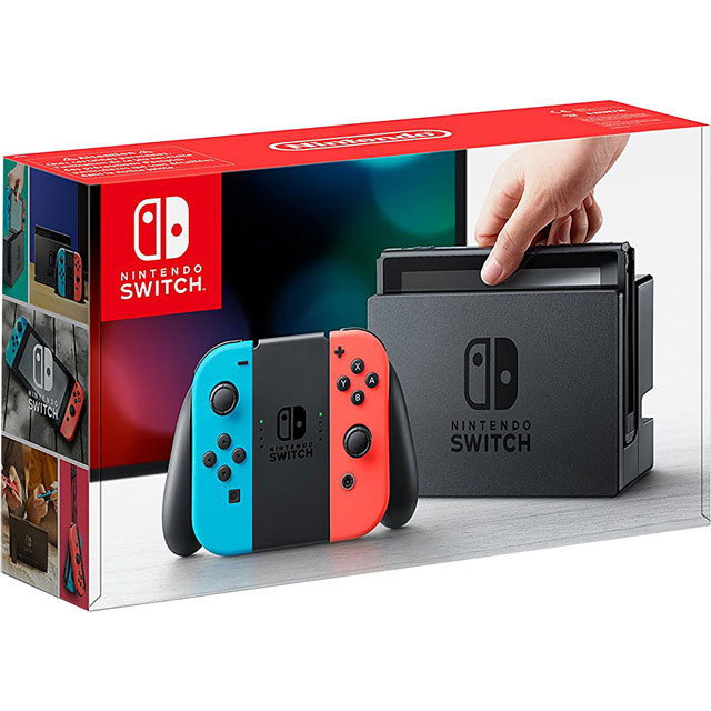Nintendo Switch Neon Red & Blue - Currys