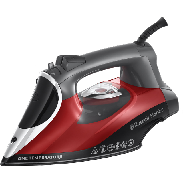 Russell Hobbs One Temperature 25090 2600 Watt Iron -Red / Black - 25090_RDBK - 1