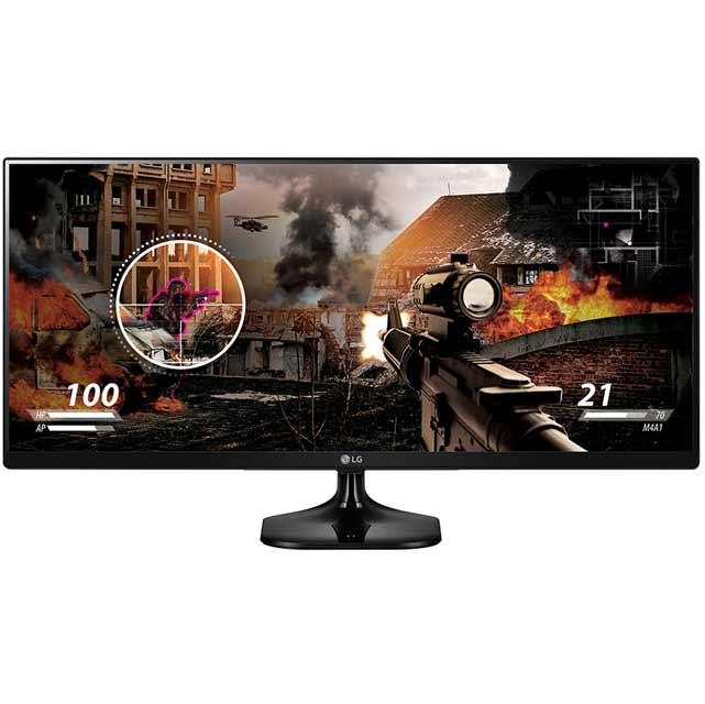 "LG Full HD 25"" Gaming Monitor - Black - 25UM58-P - 1"