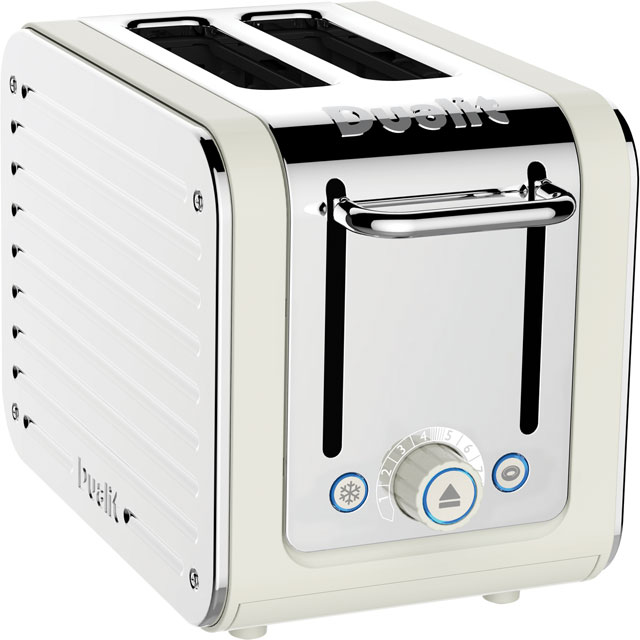 Dualit Architect 26523 2 Slice Toaster - Canvas White / Stainless Steel - 26523_CWS - 1