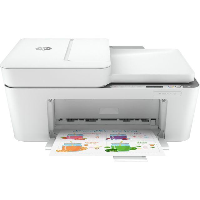 HP DeskJet Plus 4120e All-In-One Inkjet Printer - Grey / White