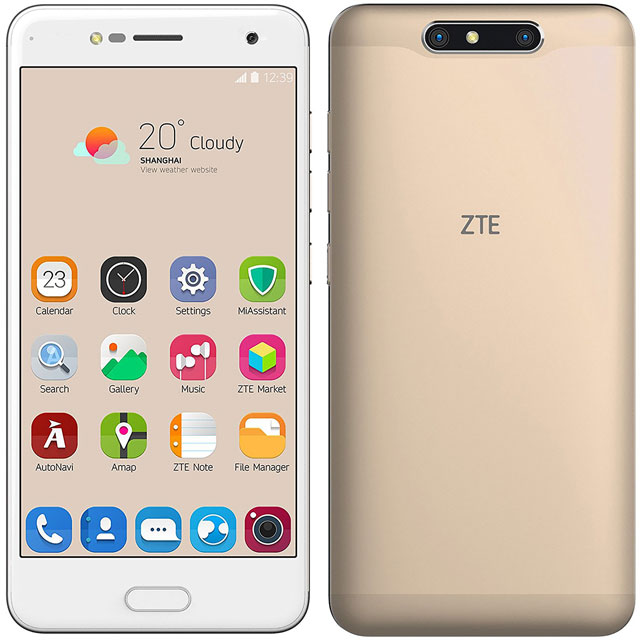 ZTE Blade V8 Silver Grey 16GB Smartphone in Gold