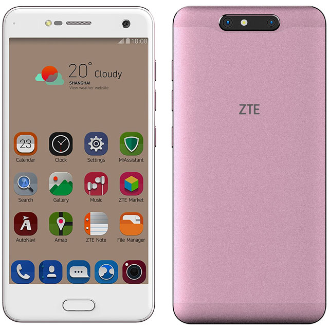 ZTE Blade V8 Silver Grey 16GB Smartphone in Rose Gold