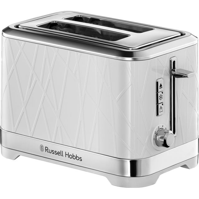 Russell Hobbs 28090 Structure Toaster, 2 Slice - Contemporary Design Featuring Lift and Look with Frozen, Cancel and Reheat Settings, White