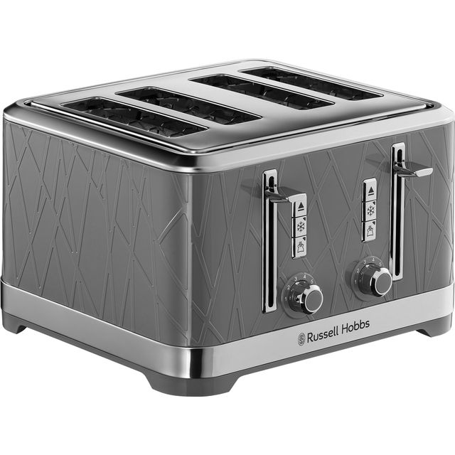 Russell Hobbs 28102 Structure Toaster, 4 Slice - Contemporary Design Featuring Lift and Look with Frozen, Cancel and Reheat Settings, Grey