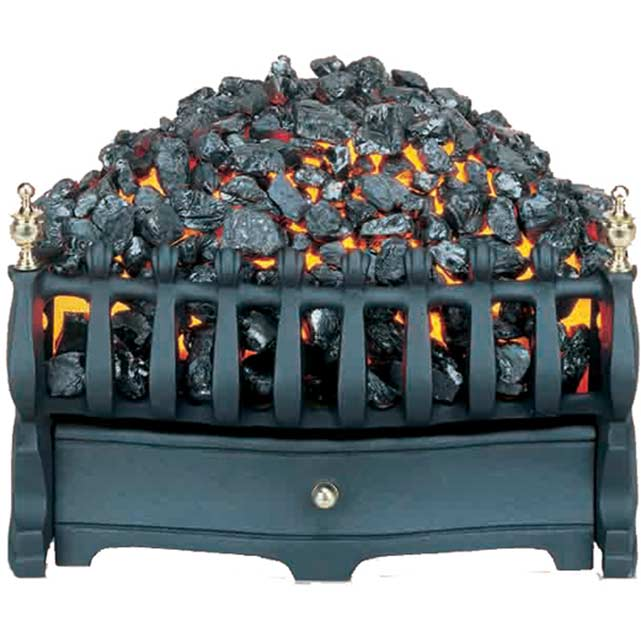 Burley Halstead 293 Coal Bed Basket Fire - Black