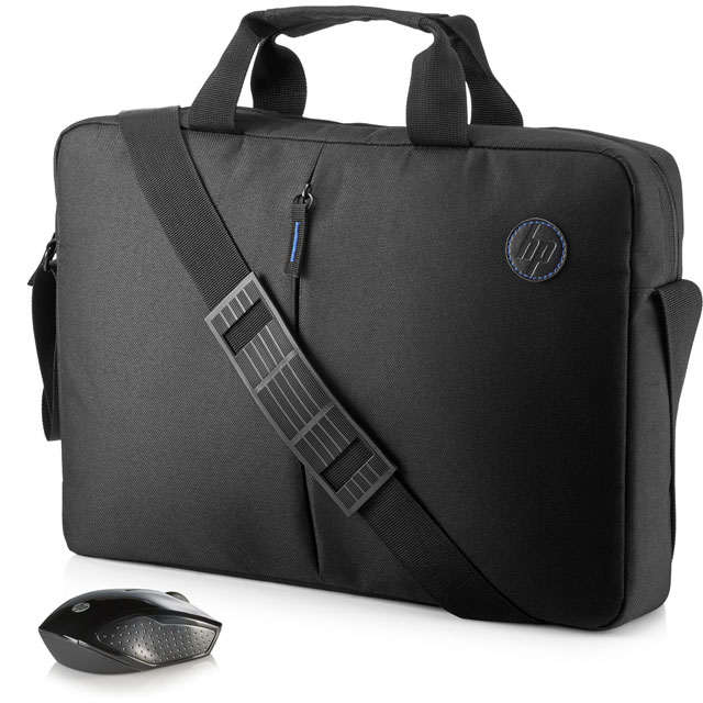 "HP Value Topload Laptop Case Includes Wireless Mouse for 15.6"" Laptop Laptop - Black - 2GJ35AA#ABB - 1"