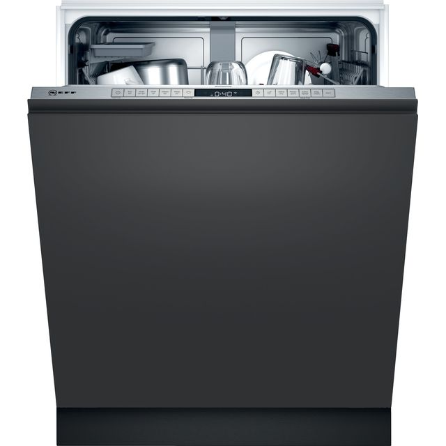 NEFF N50 S155HAX27G Wifi Connected Fully Integrated Standard Dishwasher - Stainless Steel Control Panel - D Rated