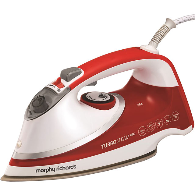 Morphy Richards 303124 2800 Watt Iron -White / Red - 303124_WH - 1