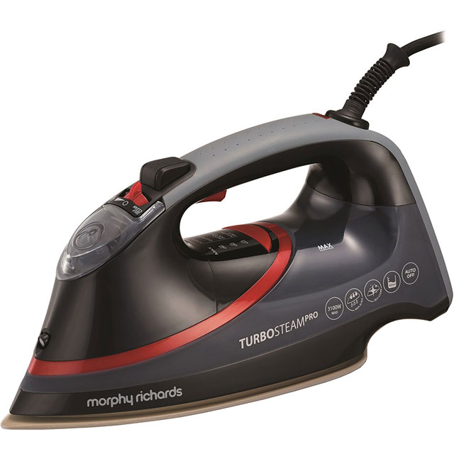 Morphy Richards Turbo Steam Diamond 303125 3100 Watt Iron -Black / Red