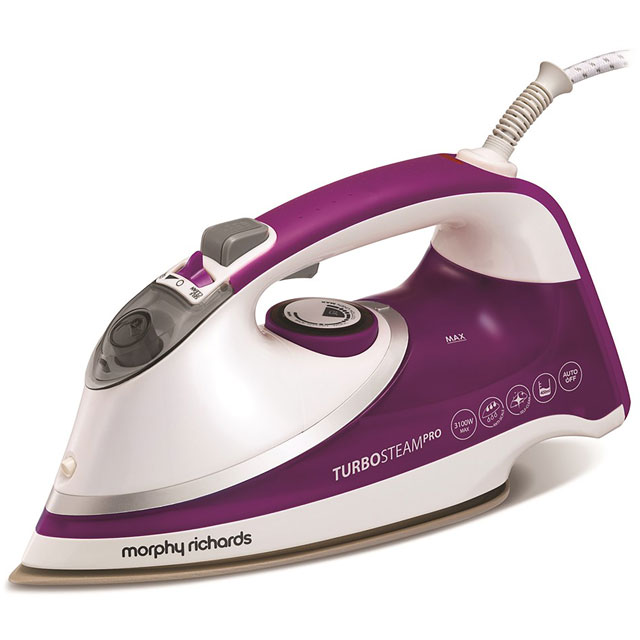 Morphy Richards Turbosteam 303126 3100 Watt Iron -White / Purple