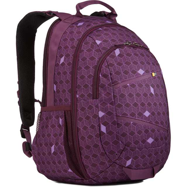 "Case Logic Berkeley II Backpack for 15"" Tablet - Purple Cubes"