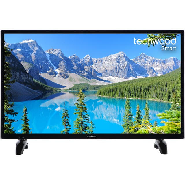 "Techwood 32AO7USB 32"" Smart TV with Freeview Play - Black - [A+ Rated]"