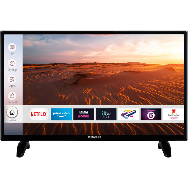 "Techwood 32AO8HD 32"" Smart TV - Black - 32AO8HD - 1"
