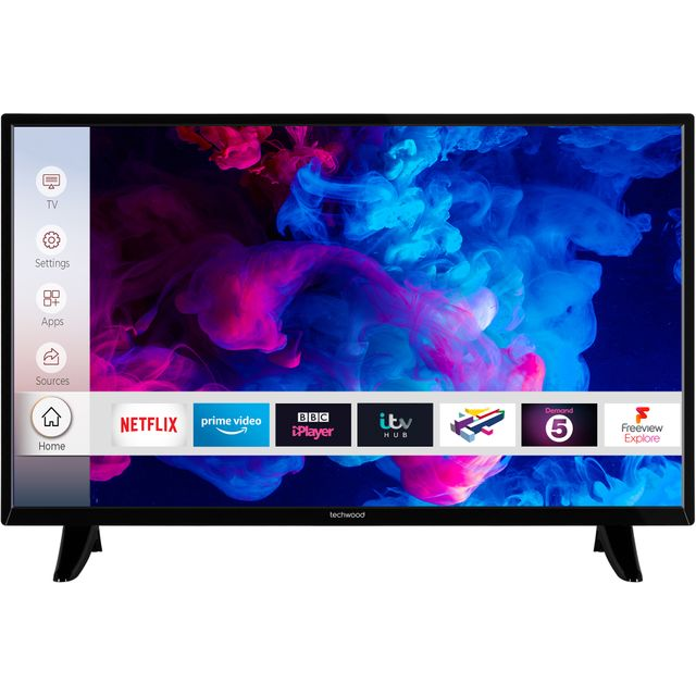 "Techwood 32AO9HD 32"" Smart 720p HD Ready TV With Freeview HD"