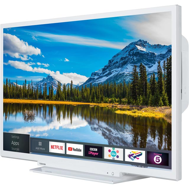 "Toshiba 32D3864DB 32"" Smart TV/DVD Combi TV - White - 32D3864DB - 3"