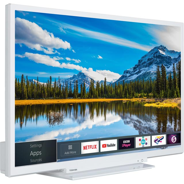 "Toshiba 32D3864DB 32"" Smart TV/DVD Combi TV - White - 32D3864DB - 2"