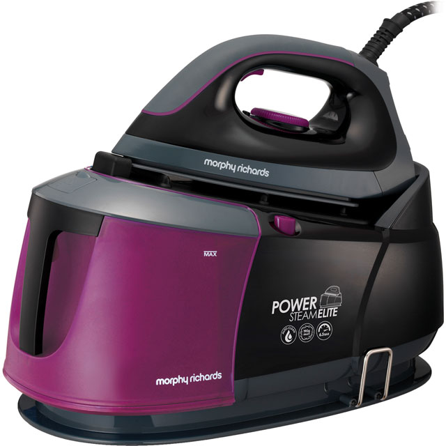 Morphy Richards Power Steam Elite With AutoClean 332012 Pressurised Steam Generator Iron - Black - 332012_BK - 1