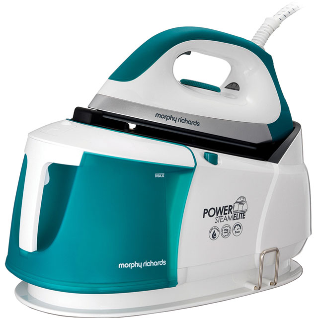 Morphy Richards Power Steam Elite With AutoClean 332014 Pressurised Steam Generator Iron - White / Green - 332014_WH - 1