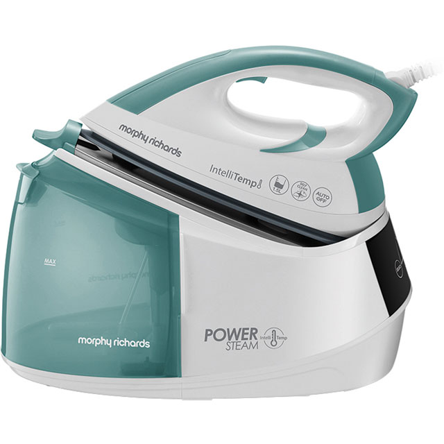 Morphy Richards Power Steam Pressurised Steam Generator Iron - Green / White