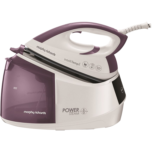 Morphy Richards Power Steam with IntelliTemp 333301 Pressurised Steam Generator Iron - White / Purple - 333301_LIWH - 1