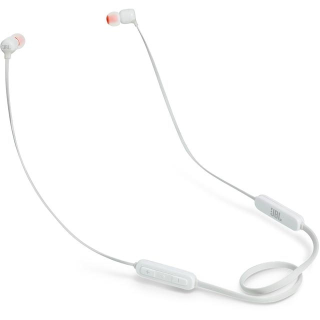 JBL T110BT In-ear Wireless Sports Headphones - White - 361004 - 1