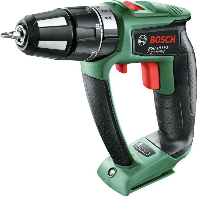 Bosch PSB 18 LI-2 Ergonomic-BARE 18 Volts Cordless Hammer Drill - Battery Not Included