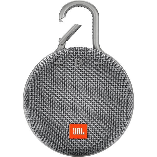 JBL Clip 3 Portable Bluetooth Wireless Speaker - Grey