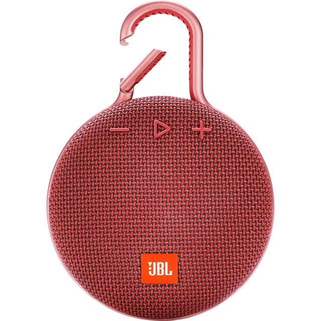 JBL Clip 3 Portable Bluetooth Wireless Speaker - Red